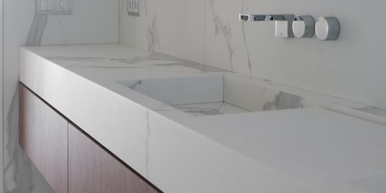 Een badkamer van Neolith